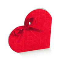 BOX HEART SHAPE MED.RED