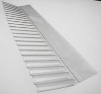 Corrugated Clear PVC Wall Flashing 715mm