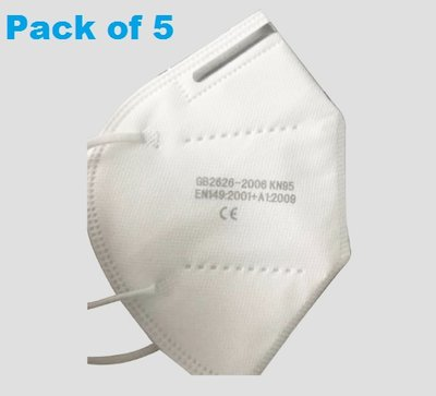 N95/FFP2 Disposable Face Mask (Pack of 5)