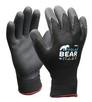 Polar Bear Thermo Winter Gloves Grey/Black