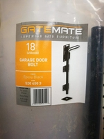 "18"" GARAGE DOOR BOLT BLACK"