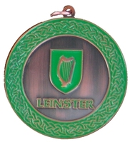 50mm Bronze Enamelled Leinster Medallion