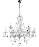 Katie 9 Light Chandelier, Polished Chrome & Acrylic Glass | LV1802.0074