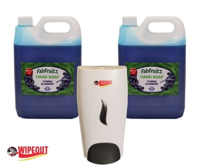 Blueberry hand soap 2x5l and Soap Dispenser