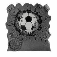 10cm Soccer Ball Eruption Trophy