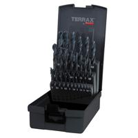 Terrax Twist Drill Set HSS Rolled 1-13mm