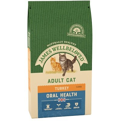 James Wellbeloved Adult Cat Oral Health Turkey 1.5kg