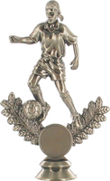 Metal Plated Soccer Figure (Female)