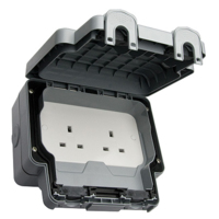 13A OUTDOOR SOCKET IP56 2 GANG