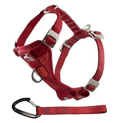 Kurgo Tru-Fit Smart Harness with Seatbelt Tether Red Large