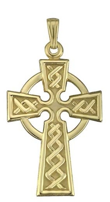 10K CHARM CELTIC CROSS 21MM