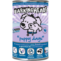 Barking Heads Cans Puppy Days with Salmon 400g x 6
