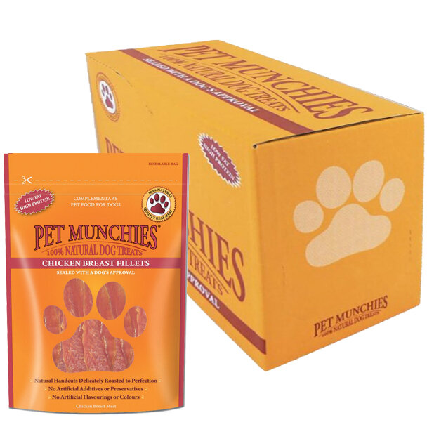 Pet Munchies Chicken Breast Fillets 8 x 100g