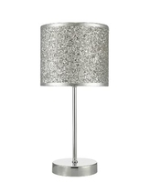 Bistro Touch Table Lamp, Polished Chrome with Silver Glitter Shade | LV1802.0117