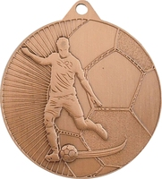 45mm Soccer Player Medal (Bronze)