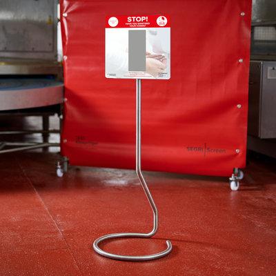 Mobile hand sanitiser station - single dispenser
