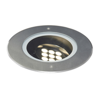 HIGHLIGHT 18 WATT LED 230 VOLT IP67 4000K ADJUSTABLE INGROUND UPLIGHT