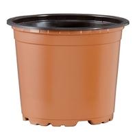 Teku VTG13 Round Pot 8° Thermoformed 13cm - Terracotta/Black