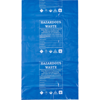 Spill Control - Hazardous Waste Disposal Poly Bags, X100, Blue