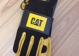Cat Premium Deerskin Glove Black