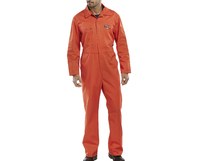 Super Click Zip and Stud Boilersuit Orange