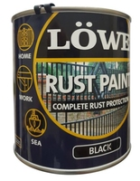 Lowe Rust Paint Metal and Machinery Black 500ml