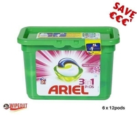 ARIEL 3n1 PODS FRESH SENSATIONS CASE 6