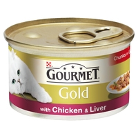 Gourmet Gold Cat Can Chicken & Liver in Gravy 85g x 12