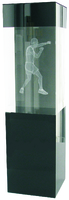 22cm Boxing Crystal Award