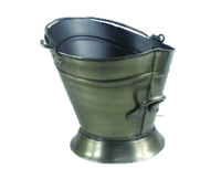 Antique Brass Waterloo Coal Bucket
