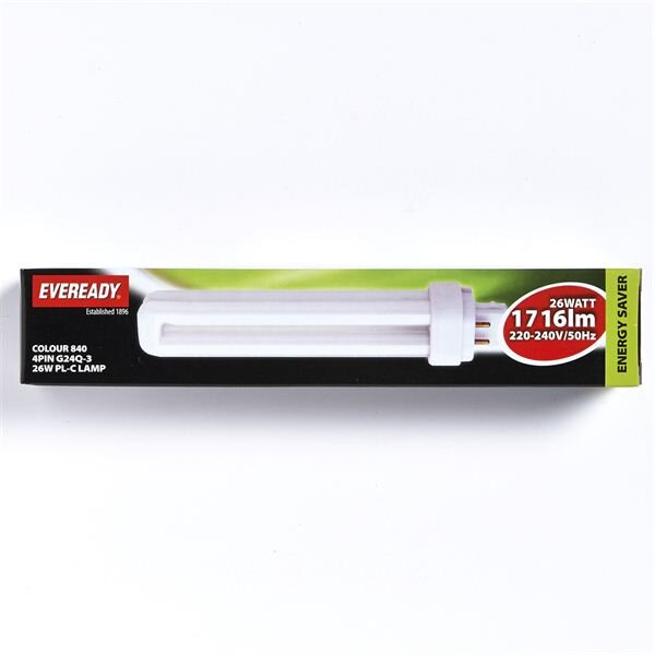 EVEREADY COOL WHITE(COL840) PL-C 26W 4 PIN