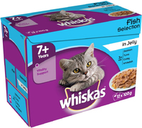Whiskas Pouch 7+ Senior Fish Selection Jelly 100g 12-Pack x 4