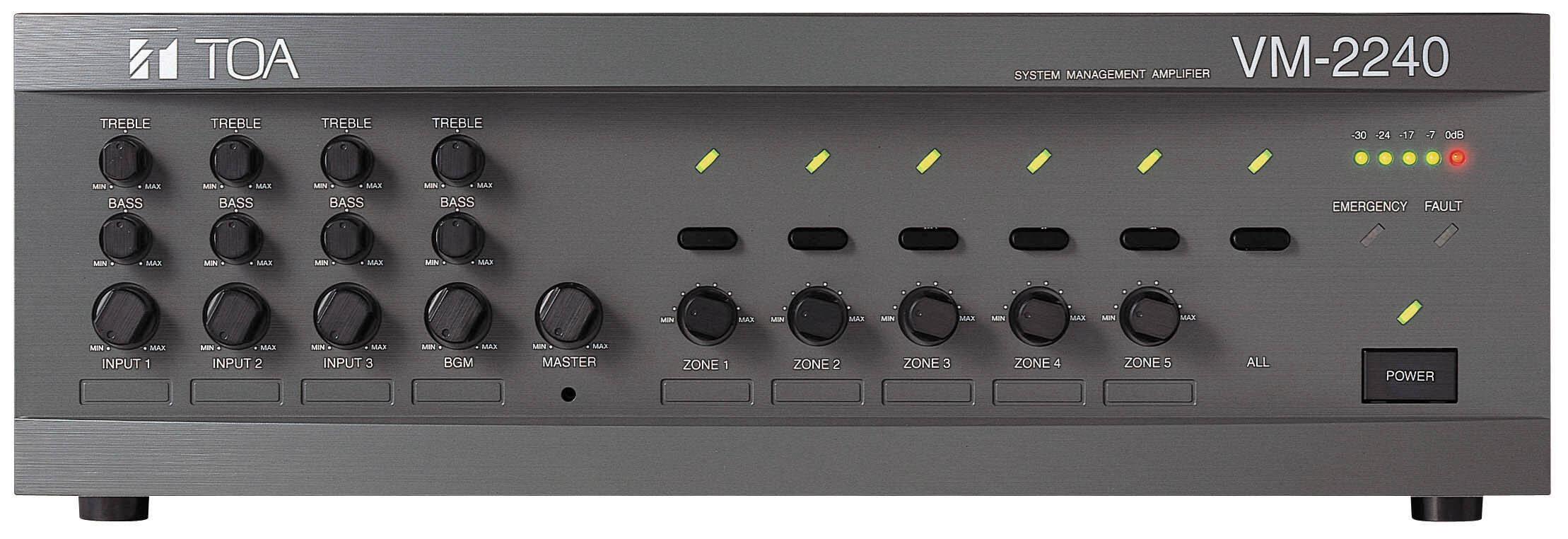 TOA VM-2240 VM-2000 Series Amplifier, 240W