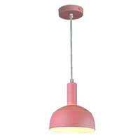 E14 Plastic Pendant Lampholder with Slide Aluminum Pink Lampshade