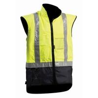 Bison Stamina Hi Vis Day/Night Fleece Lined Vest
