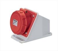 IP44 Wall Mounting Inclined Box Socket 3 Pin + Earth 380-415V 16A