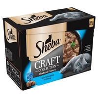 Sheba Craft Pouches - Fish Selection 85g 12-Pack x 4