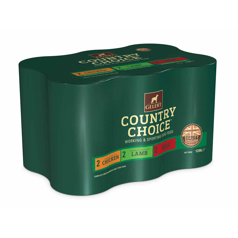 Gelert Country Choice Adult Dog Variety in Jelly Dog Food 6 x 1200g