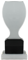 20cm Clear/BK Crystal  Award (Satin Box)