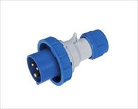 IP67 Quick Assembly Straigt Plug 2 Pin + Earth 220-240V 63A