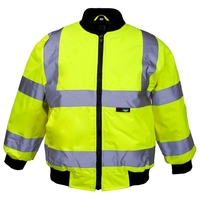 Supertouch Hi-Visibility Junior Bomber, Knit Collar, Yellow