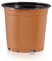 Teku VCH9F Round Pot 5° Extra Tall Thermoformed 9cm - Terracotta