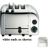 Combi Toaster 2+1 Standard White Ends Dualit