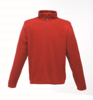 Regatta TRF549 Micro Zip Neck Fleece Red