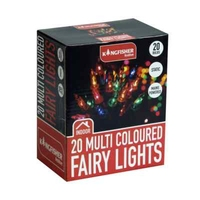 KINGFISHER 20 MULTI COLOURED CHRISTMAS FAIRY LIGHTS