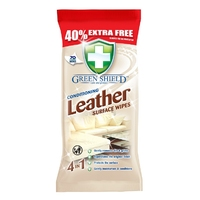 Green Shield Leather Wipes, 70 Extra Large Sheets