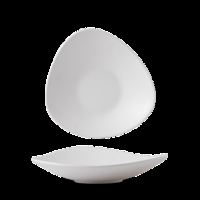 "Plastic White Lotus Melamine Dish 12"" Carton of 4"