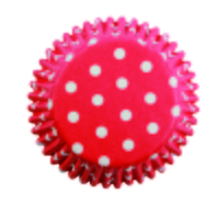 BC722 RED POLKA DOTS STD BAKING CUPS60PK