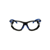 3M™ Solus Protective Eyewear with Clear Scotchgard™ Anti-Fog Lens 1000-Series Kit, S1101SGAF-KT, Black/Blue