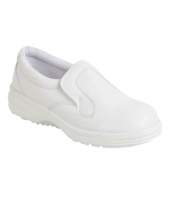White Slip on Safety Shoe S2